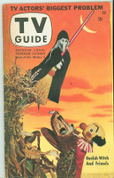 1953 TV Guide Oct 30 Kukla and Buelah Witch Philadelphia edition Very Good to Excellent - No Mailing Label  [Heavy toning along binding; contents fine]