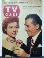 1954 TV Guide Jun 18 Ed Sullivan and Rise Stevens Pittsburgh edition Excellent to Mint  [Label on reverse, lt surface wear on cover, ow clean]