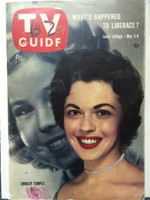 1958 TV Guide May 3 Shirley Temple (Classic Cover) New England edition Good to Very Good - No Mailing Label  [WRT on both covers, sl moisture on back cover; contents fine]