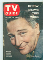 1958 TV Guide Sep 27 Garry Moore Southern Ohio edition Very Good - No Mailing Label  [Wear and heavy wear along binging, lt scuffing, contents fine]