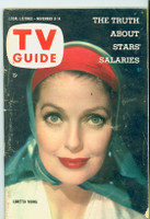 1958 TV Guide Nov 8 Loretta Young Pittsburgh edition Good to Very Good - No Mailing Label  [Wear on cover and binding, creasing; contents fine]