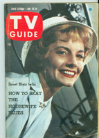 1959 TV Guide Jul 18 Janet Blair Washington-Baltimore edition Good to Very Good - No Mailing Label  [Scuffing and creasing on cover; contents fine]