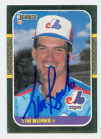 Tim Burke AUTOGRAPH 1987 Donruss  