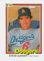 Steve Garvey AUTOGRAPH 1981 Donruss #56 Dodgers 