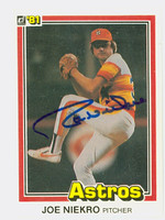 Joe Niekro AUTOGRAPH d.06 1981 Donruss #380 Astros 
