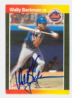 Wally Backman AUTOGRAPH 1989 Donruss Mets 