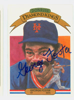 George Foster AUTOGRAPH 1983 Donruss Diamond King #6 Mets 
