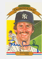 Ron Guidry AUTOGRAPH 1983 Donruss Diamond King #17 Yankees 