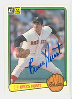Bruce Hurst AUTOGRAPH 1983 Donruss #134 Red Sox 