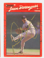 Juan Berenguer AUTOGRAPH 1990 Donruss Twins 