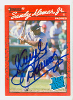 Sandy Alomar Jr AUTOGRAPH 1990 Donruss Padres 
