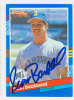 Scott Bankhead AUTOGRAPH 1991 Donruss Mariners 