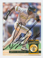 Scott Bullett AUTOGRAPH 1994 Donruss Pirates 