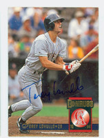 Torey Lovullo AUTOGRAPH 1994 Donruss Angels 