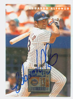 Edgardo Alfonzo AUTOGRAPH 1996 Donruss Mets 