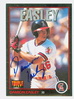 Damion Easley AUTOGRAPH 1993 Donruss Triple Play Angels 