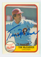 Tim Mccarver AUTOGRAPH 1981 Fleer #27 Phillies 
