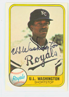U.l. Washington AUTOGRAPH 1981 Fleer #34 Royals 