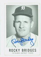 Rocky Bridges AUTOGRAPH d.15 1960 Leaf #31 Tigers CARD IS CLEAN EX