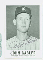 John Gabler AUTOGRAPH d.09 1960 Leaf #62 Yankees CARD IS VG; EDGE WEAR