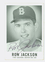 Ron Jackson AUTOGRAPH d.08 1960 Leaf #29 Red Sox CARD IS G/VG; CRN WEAR