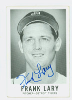 Frank Lary AUTOGRAPH 1960 Leaf #3 Tigers CARD IS G/VG; CRN WEAR