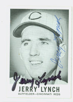 Jerry Lynch AUTOGRAPH d.12 1960 Leaf #45 Reds CARD IS VG; SURF WEAR, SIGNED 2X