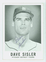 Dave Sisler AUTOGRAPH d.11 1960 Leaf #64 Tigers CARD IS CLEAN VG/EX