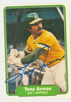 Tony Armas AUTOGRAPH 1982 Fleer #85 Athletics 
