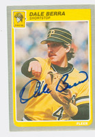 Dale Berra AUTOGRAPH 1985 Fleer Pirates 