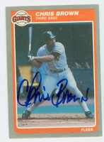 Chris Brown AUTOGRAPH d.06 1985 Fleer Giants 