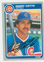 Henry Cotto AUTOGRAPH 1985 Fleer Cubs 