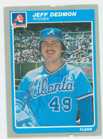 Jeff Dedmon AUTOGRAPH 1985 Fleer Braves 