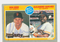 Rob Deer AUTOGRAPH 1985 Fleer Giants 
