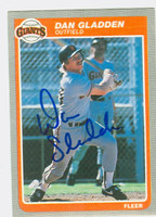 Dan Gladden AUTOGRAPH 1985 Fleer Giants 