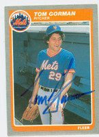 Tom Gorman AUTOGRAPH 1985 Fleer Mets 