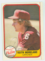 Keith Moreland AUTOGRAPH 1981 Fleer #13 Phillies 