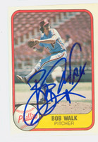 Bob Walk AUTOGRAPH 1981 Fleer #14 Phillies 