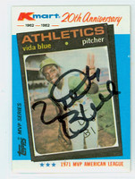 Vida Blue AUTOGRAPH K-Mart Athletics 