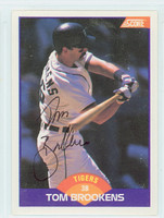 Tom Brookens AUTOGRAPH 1989 Score Tigers 