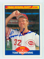 Tom Browning AUTOGRAPH 1989 Score Reds 