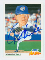 Tom Henke AUTOGRAPH 1992 Score All Star Blue Jays 