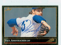 Paul Assenmacher AUTOGRAPH 1992 Leaf GOLD EDITION Cubs 
