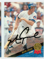 Mark Grace AUTOGRAPH 1993 Leaf Cubs 