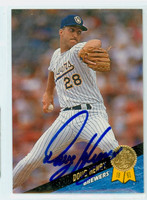Doug Henry AUTOGRAPH 1993 Leaf Brewers 