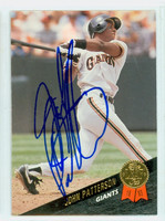 John Patterson AUTOGRAPH 1993 Leaf Giants 