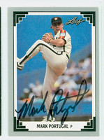 Mark Portugal AUTOGRAPH 1991 Leaf Astros 