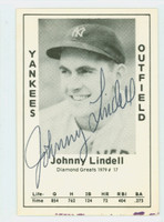 Johnny Lindell AUTOGRAPH d.85 1979 TCMA Diamond Greats Yankees 