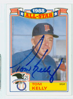 Tom Kelly AUTOGRAPH 1988 Topps Glossy AS Twins 