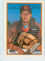Mark Parent AUTOGRAPH 1988 Topps Padres 